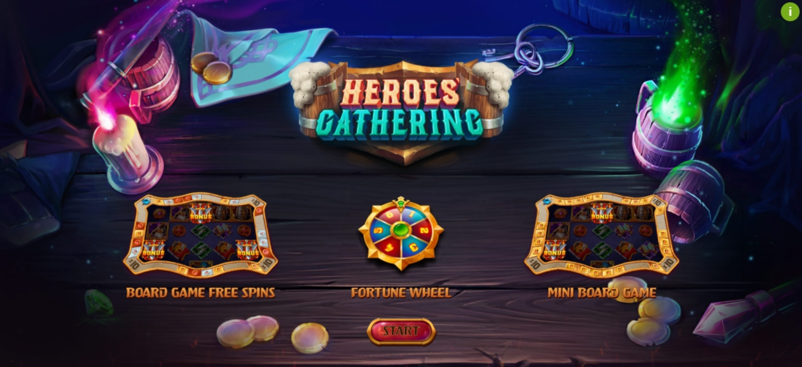 Play Heroes Gathering Free Casino Slot Game by Relax Gaming