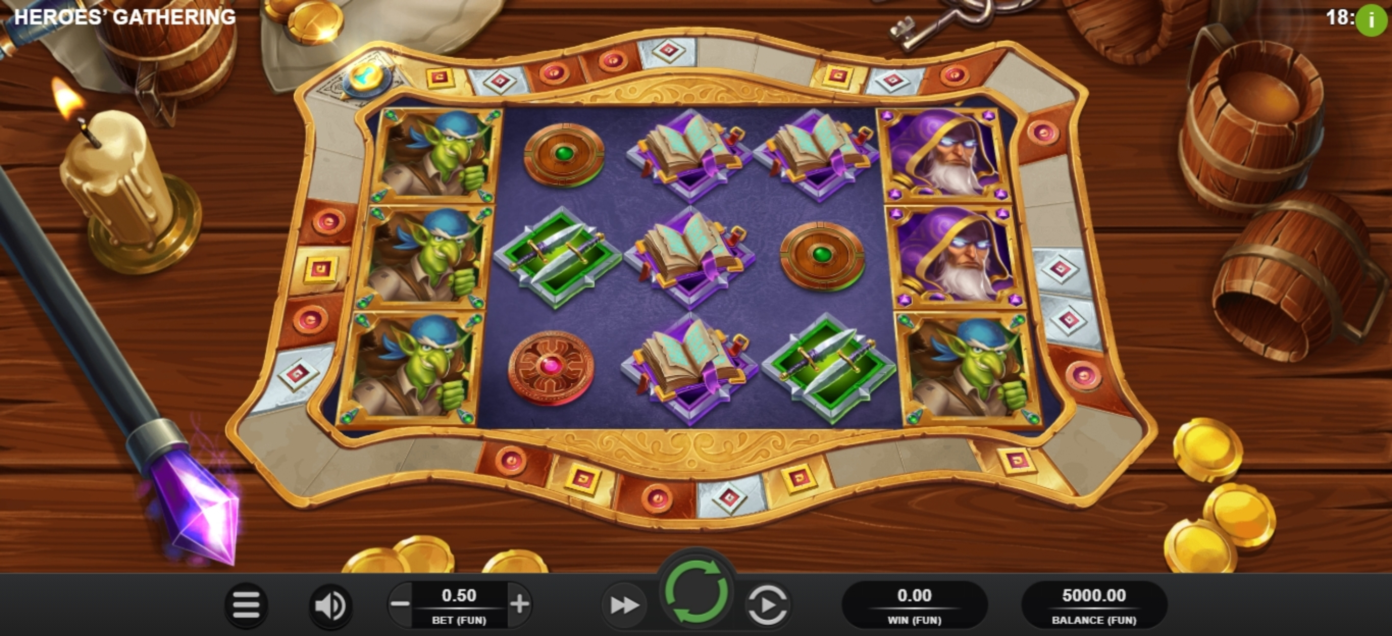 Reels in Heroes Gathering Slot Game by Relax Gaming