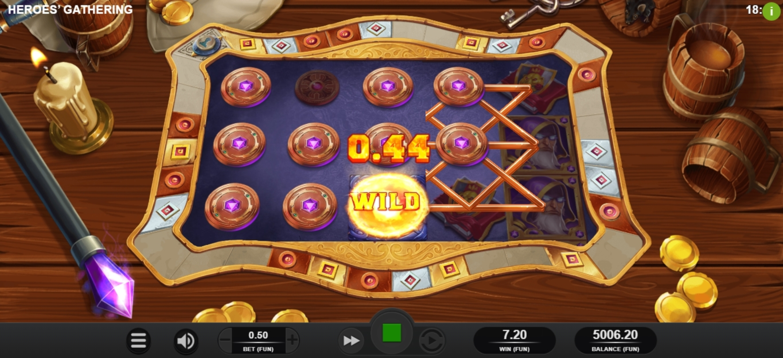 Win Money in Heroes Gathering Free Slot Game by Relax Gaming