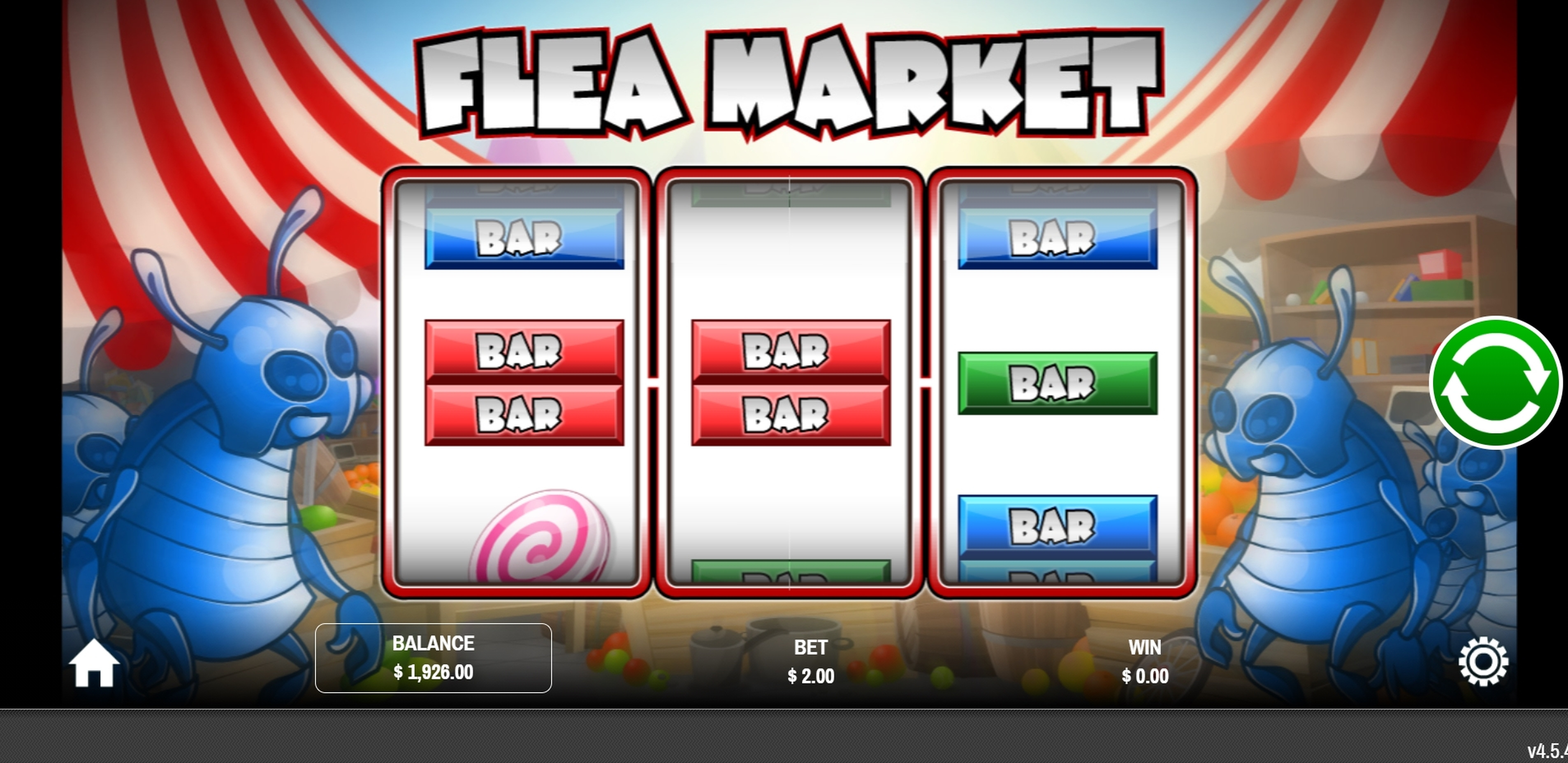 Reels in Flea Market Slot Game by Rival