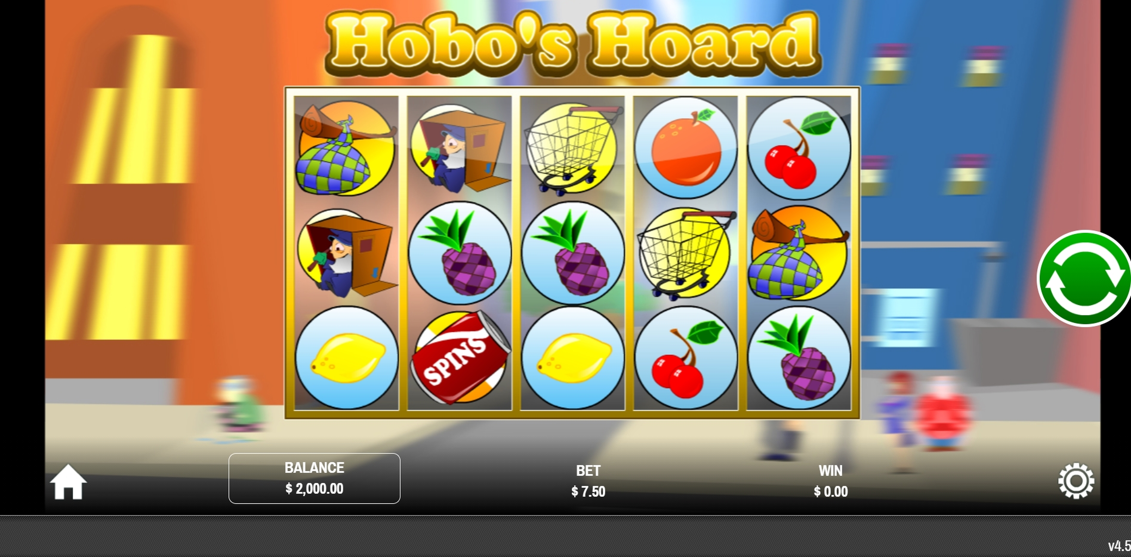 Reels in Hobo's Hoard Slot Game by Rival