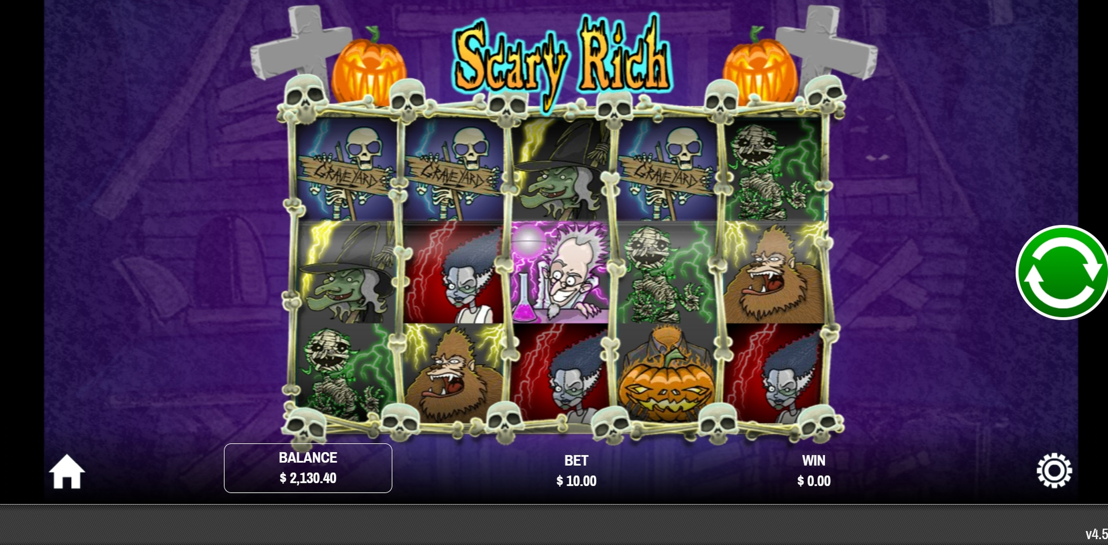 Reels in Scary Rich Slot Game by Rival