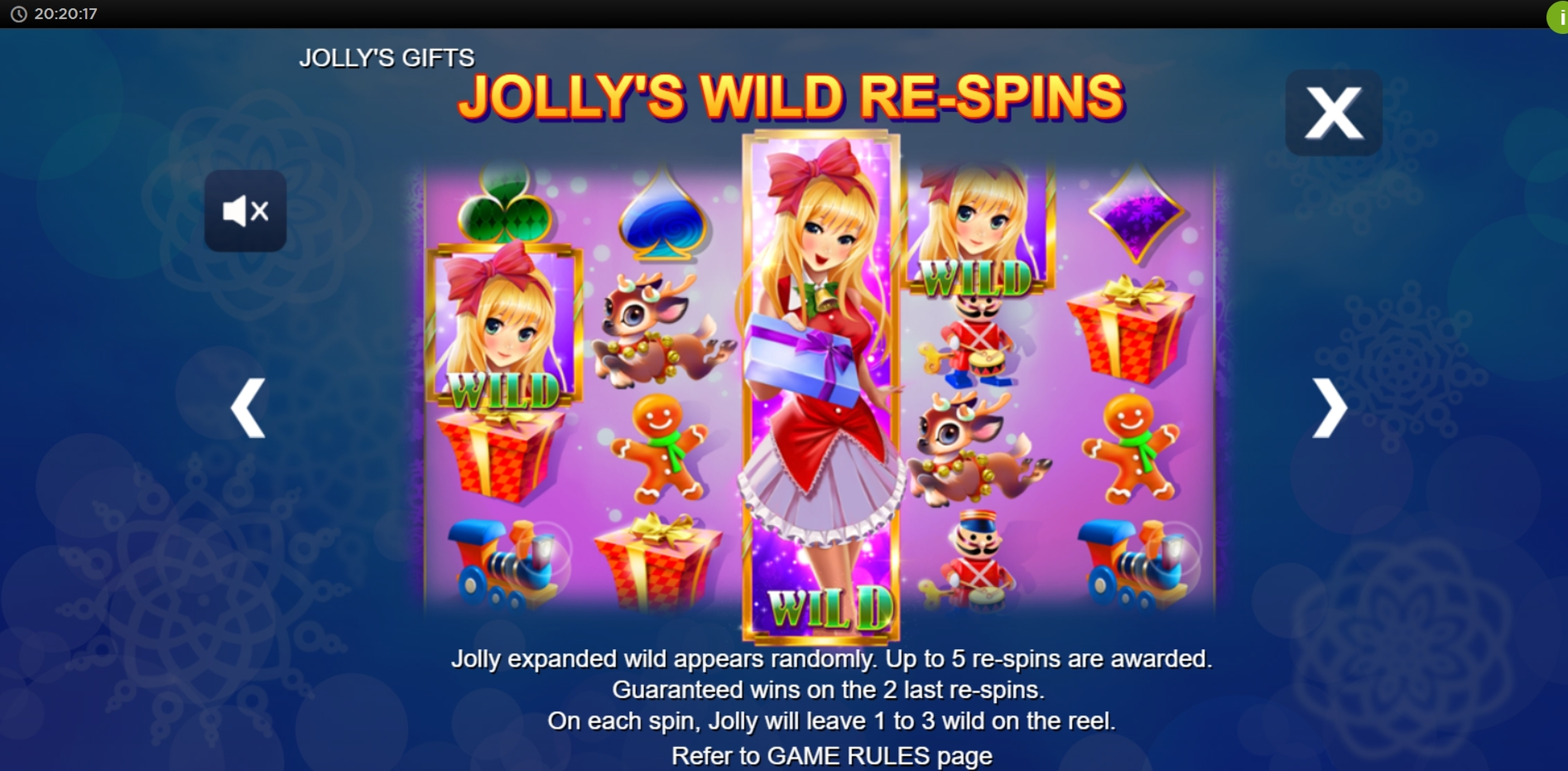 Info of Jolly's Gifts Slot Game by Side City