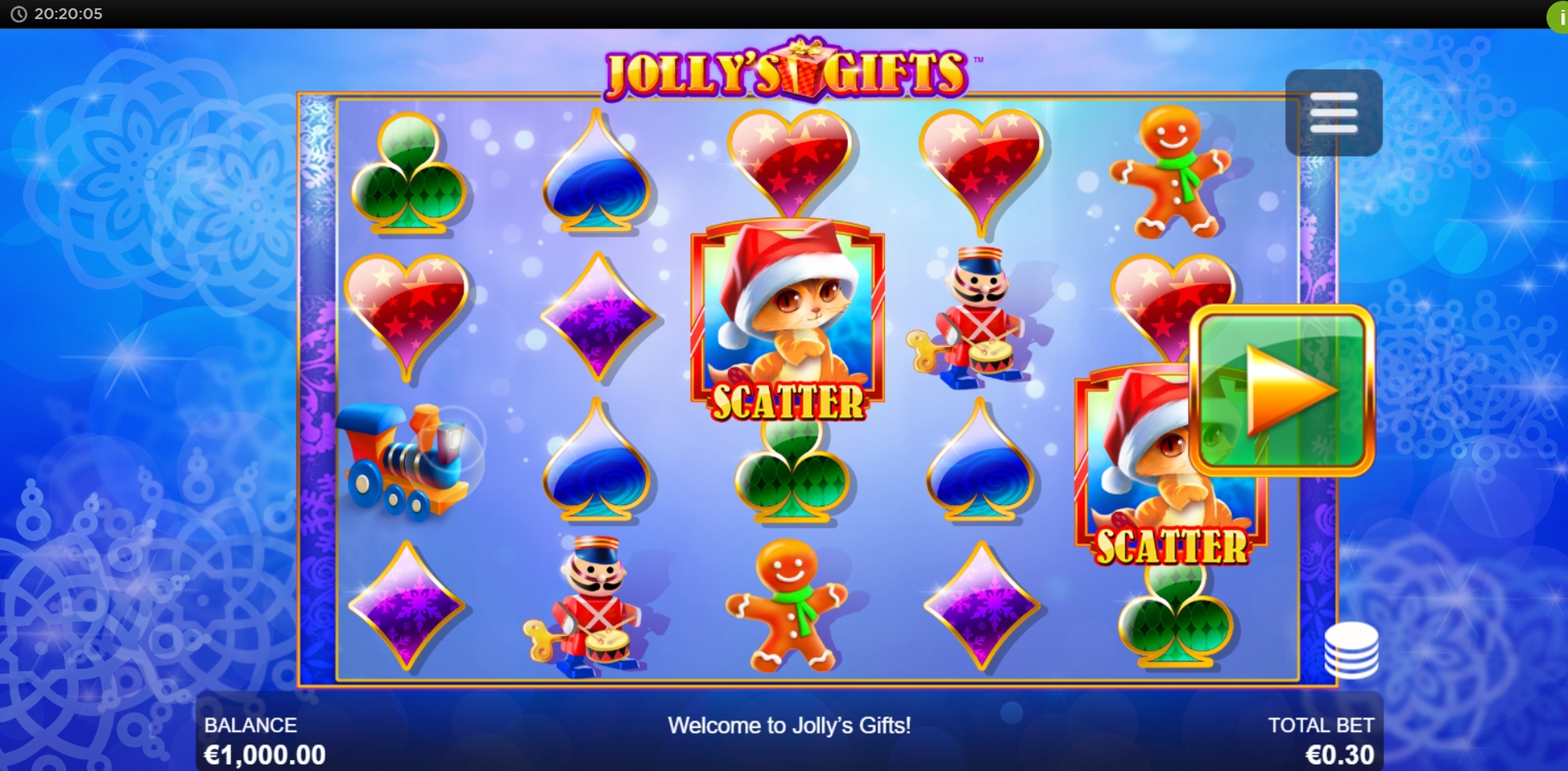 Reels in Jolly's Gifts Slot Game by Side City