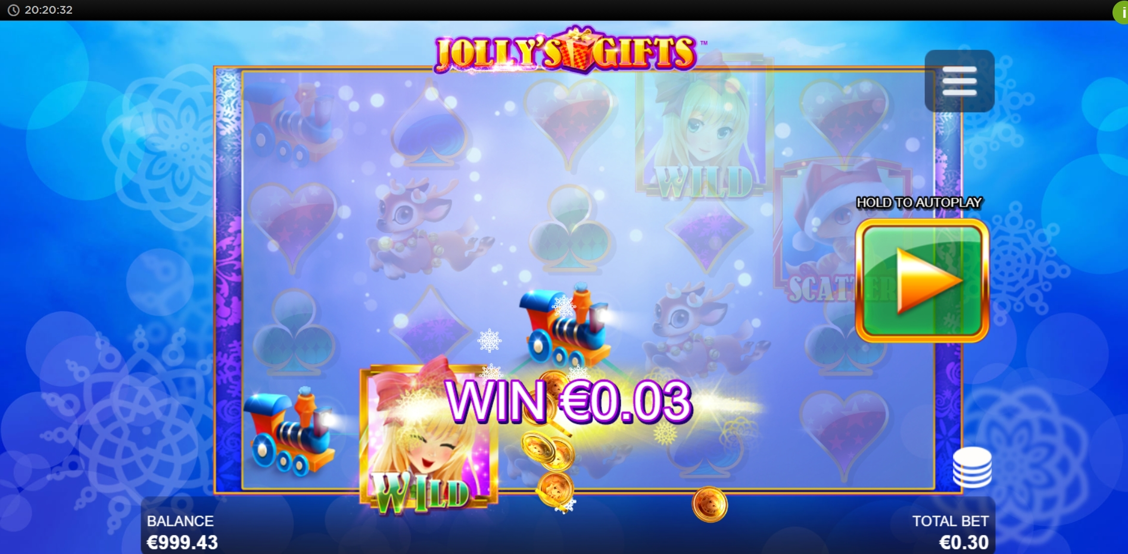 Win Money in Jolly's Gifts Free Slot Game by Side City
