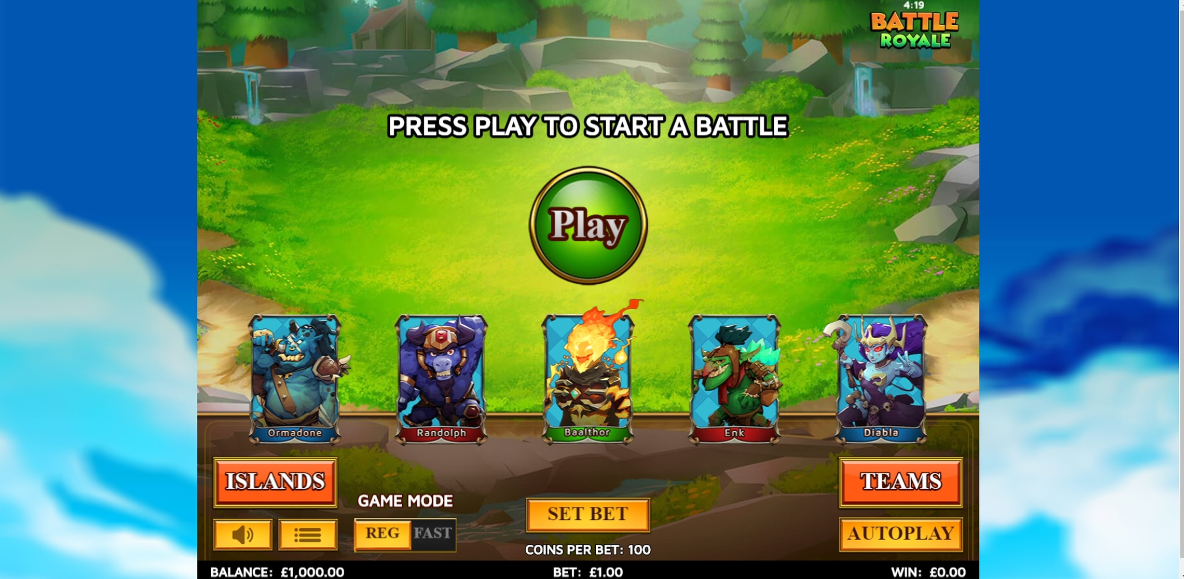 Reels in Battle Royale (Skillzzgaming) Slot Game by Skillzzgaming