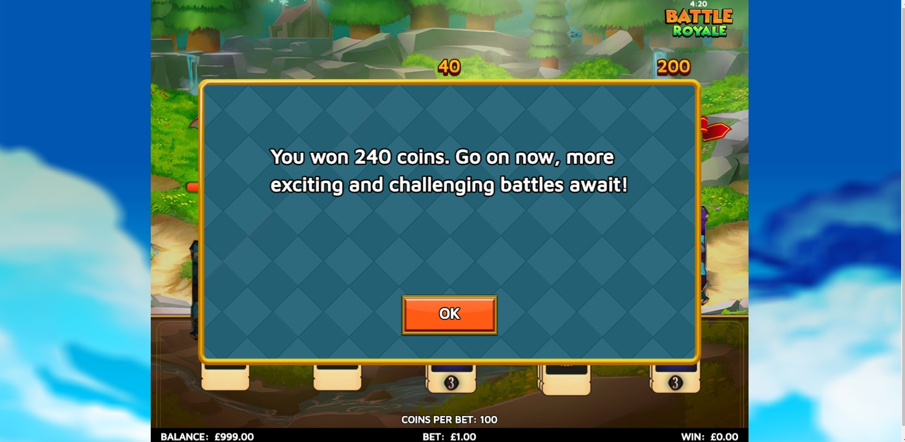 Win Money in Battle Royale (Skillzzgaming) Free Slot Game by Skillzzgaming