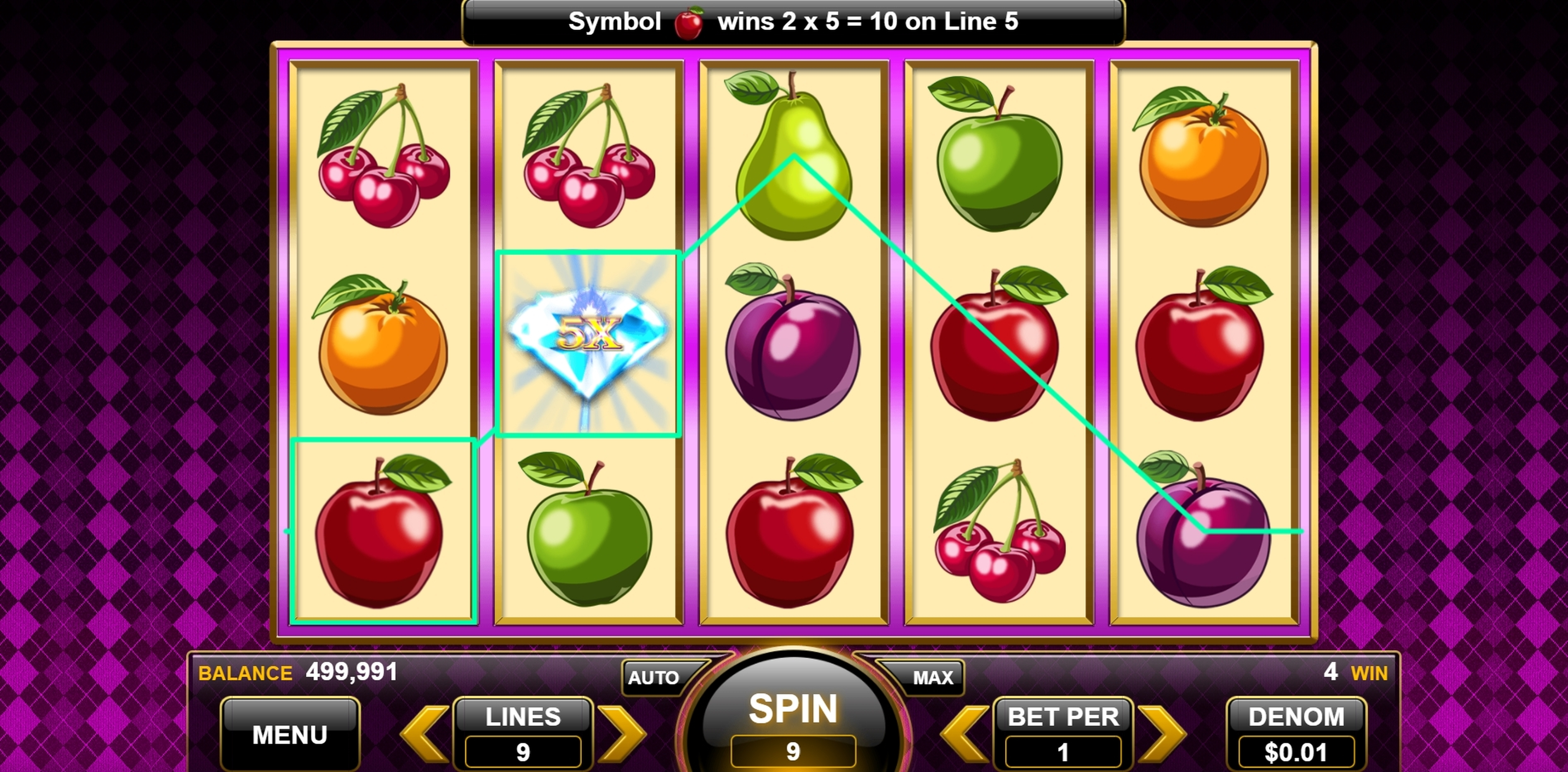 Win Money in 25 Diamonds Free Slot Game by Spin Games