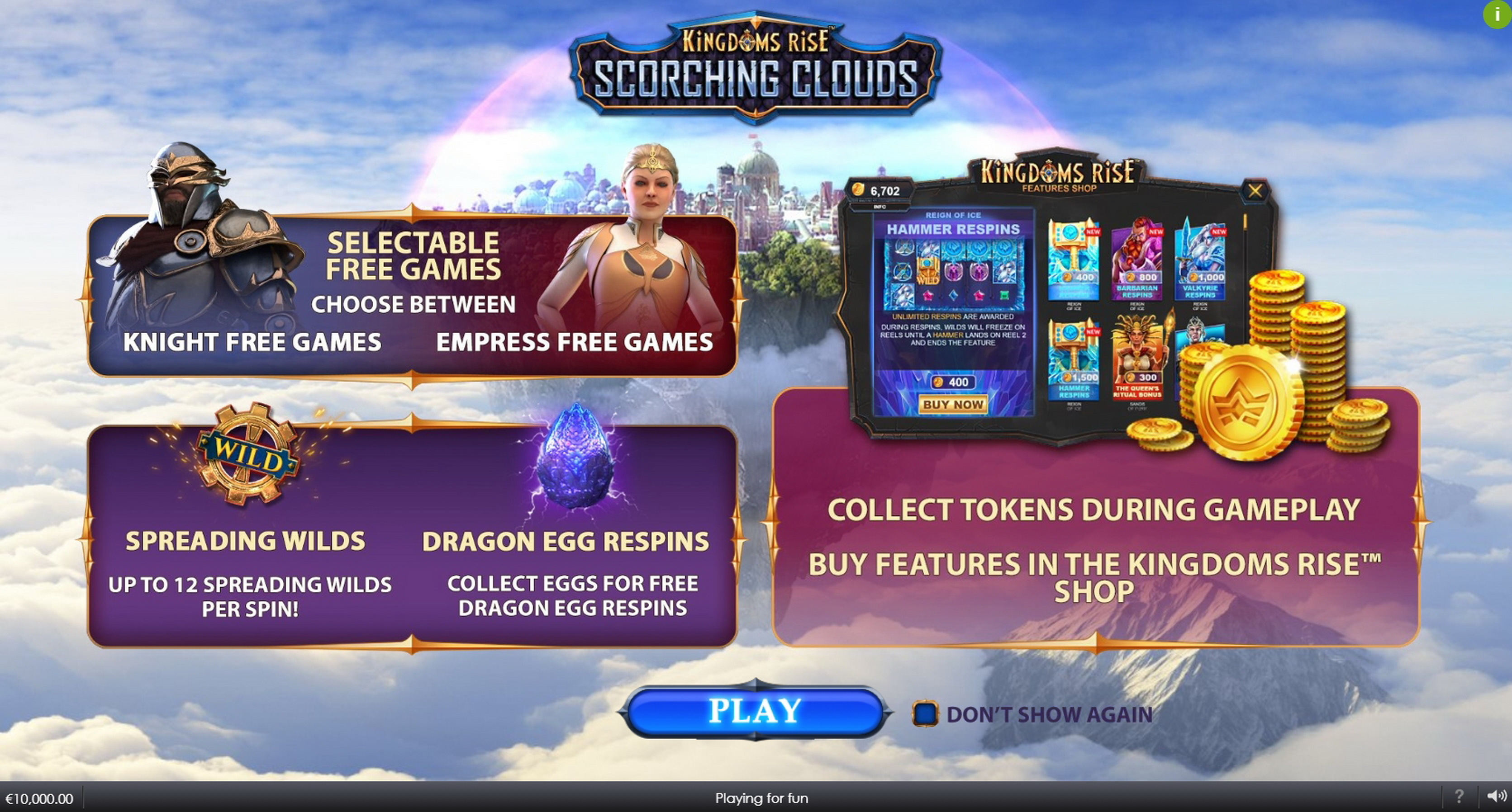 Play Kingdoms Rise: Scorching Clouds Free Casino Slot Game by SUNfox Games