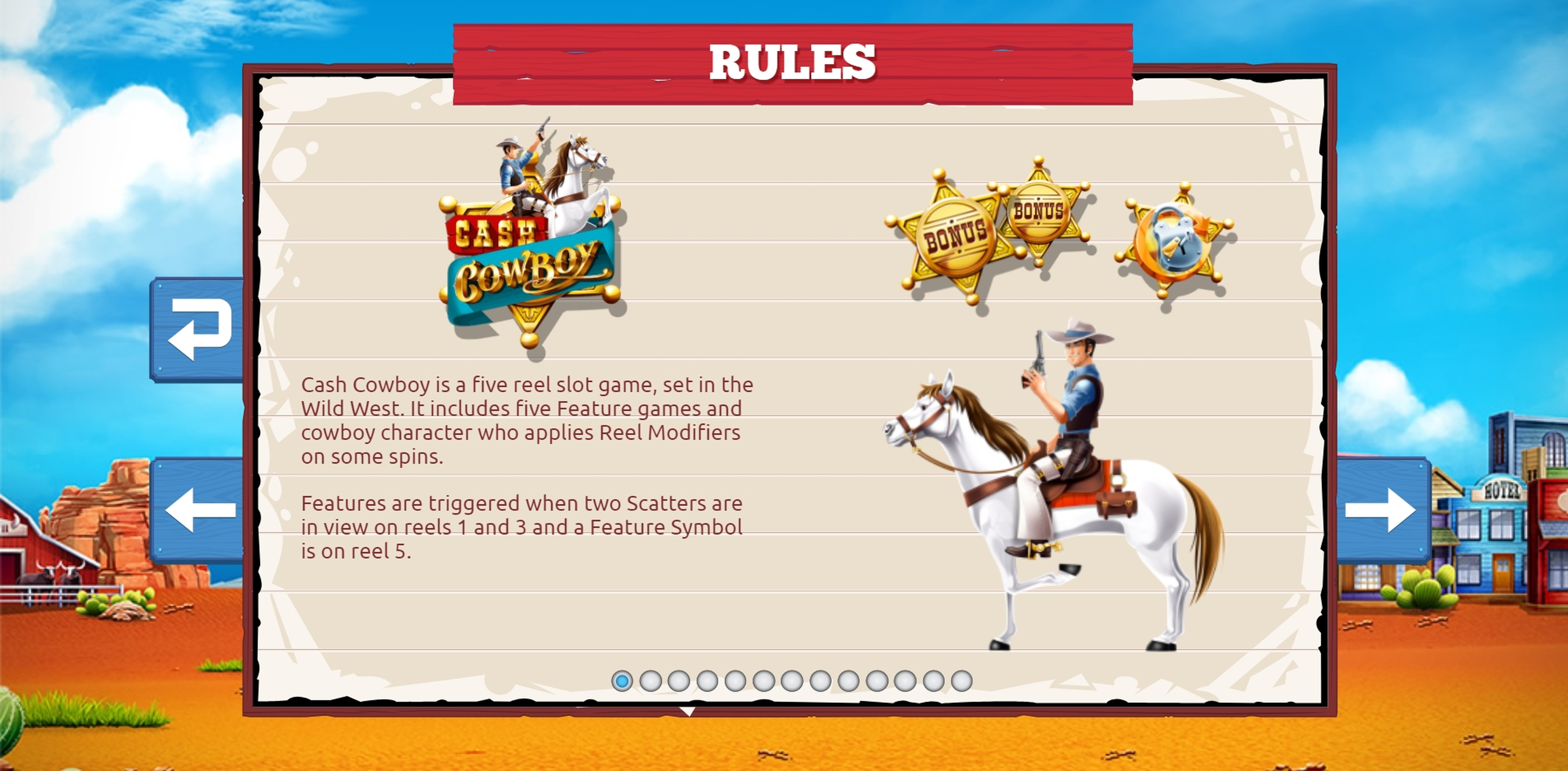 Info of Cash Cowboys Slot Game by The Games Company