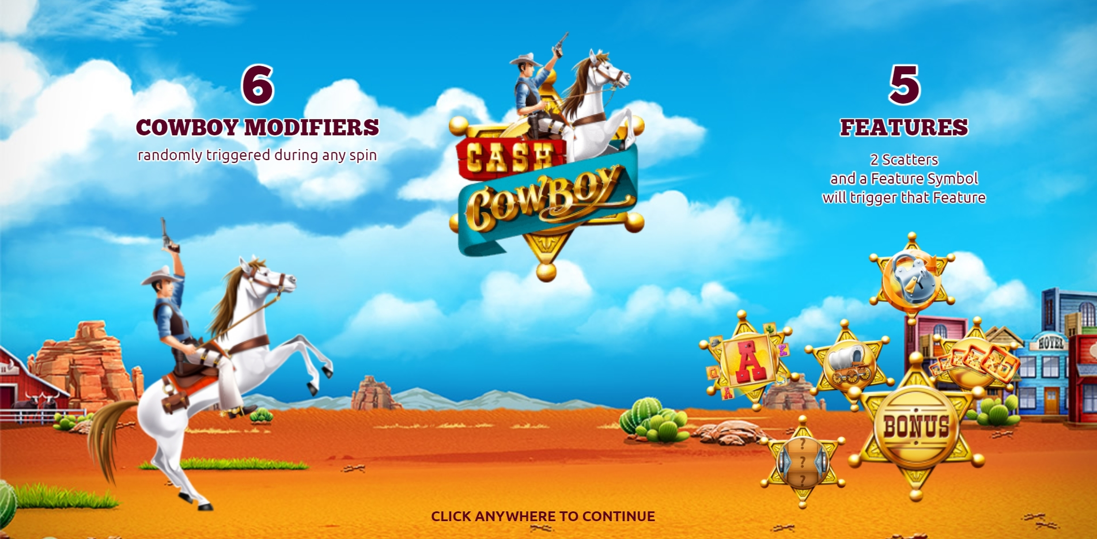 Play Cash Cowboys Free Casino Slot Game by The Games Company