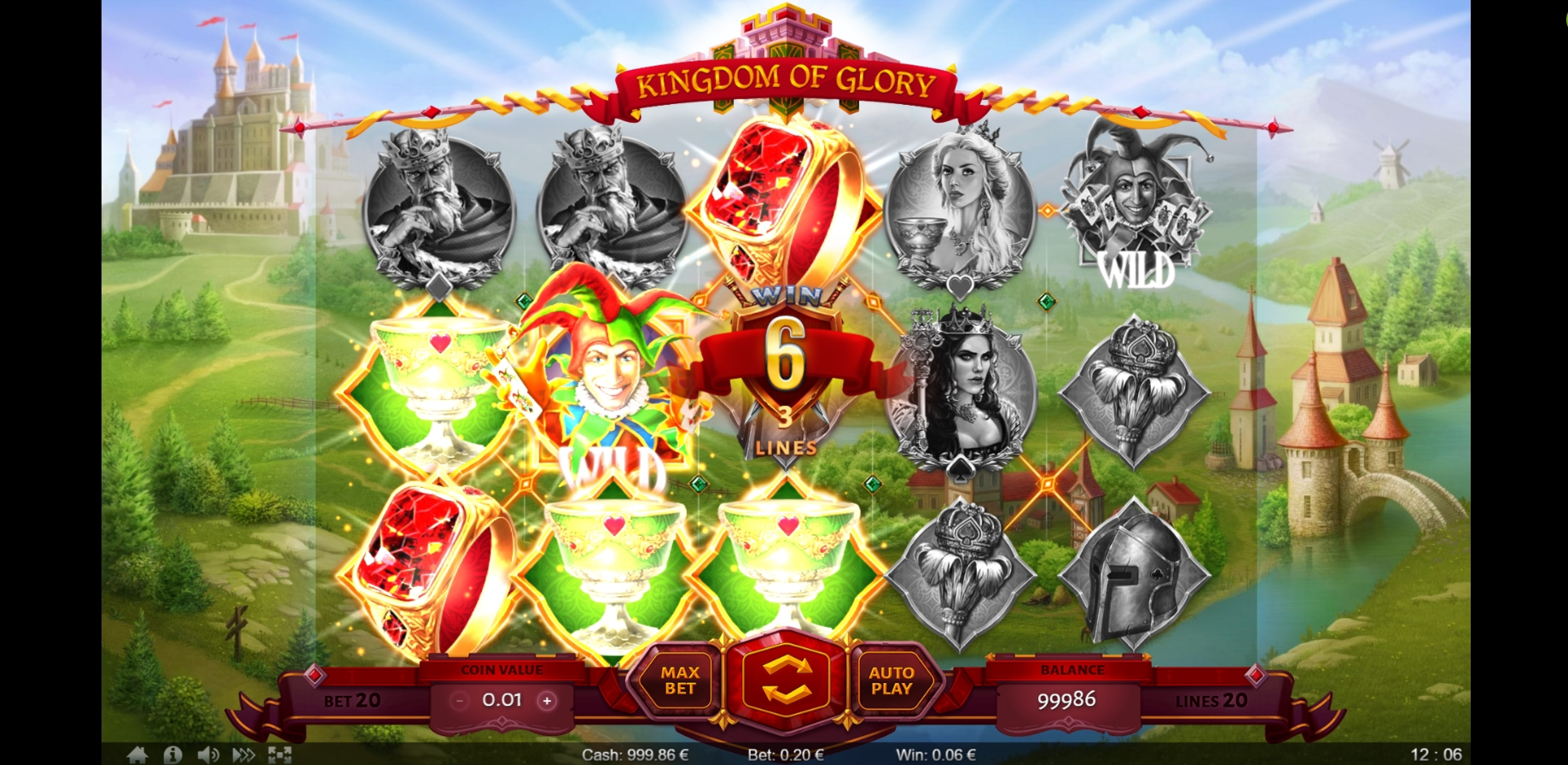 Win Money in Kingdom of Glory Free Slot Game by Thunderspin