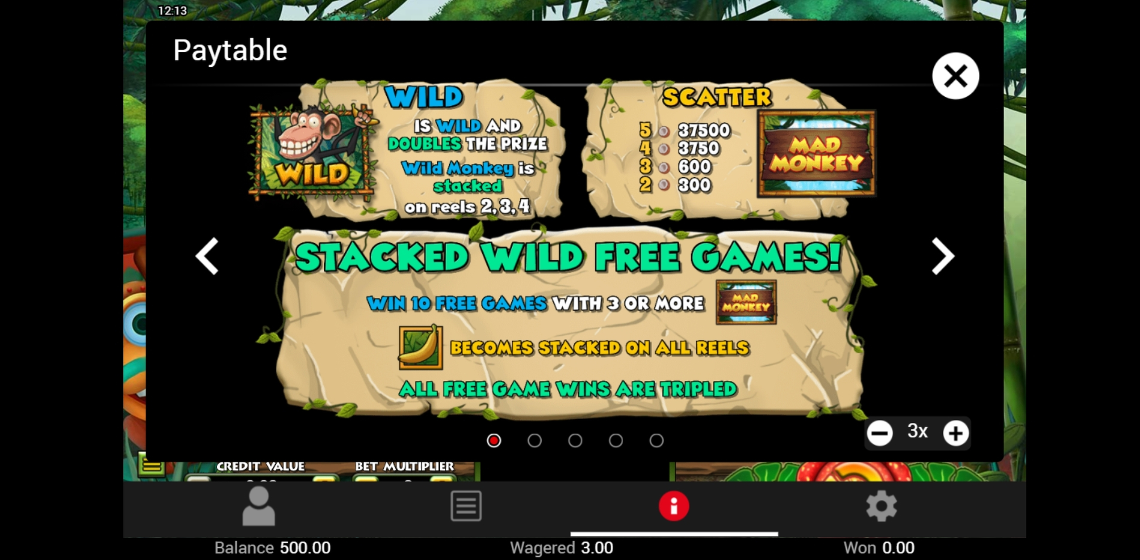 Info of Mad Monkey Slot Game by Top Trend Gaming