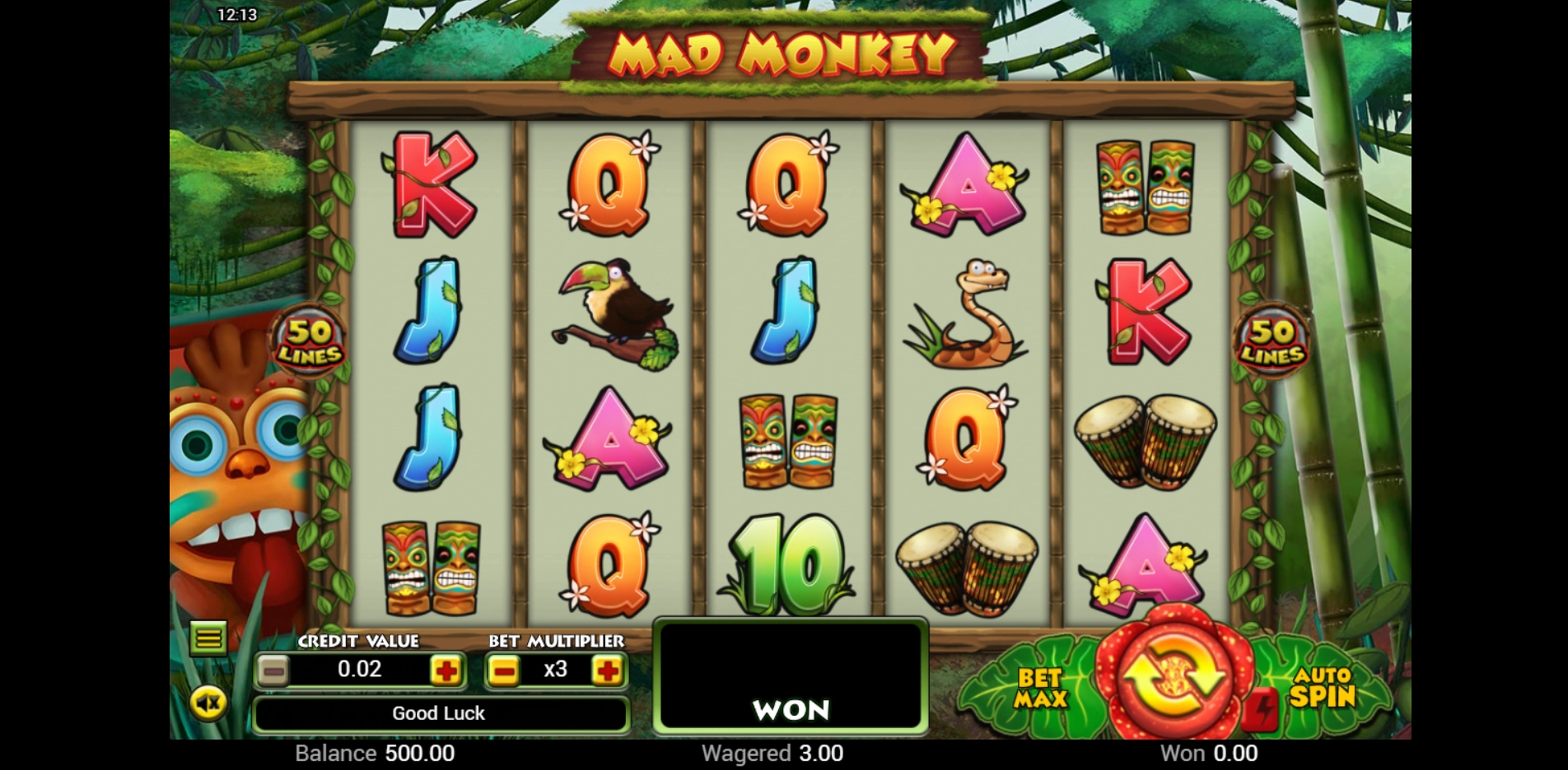 Reels in Mad Monkey Slot Game by Top Trend Gaming