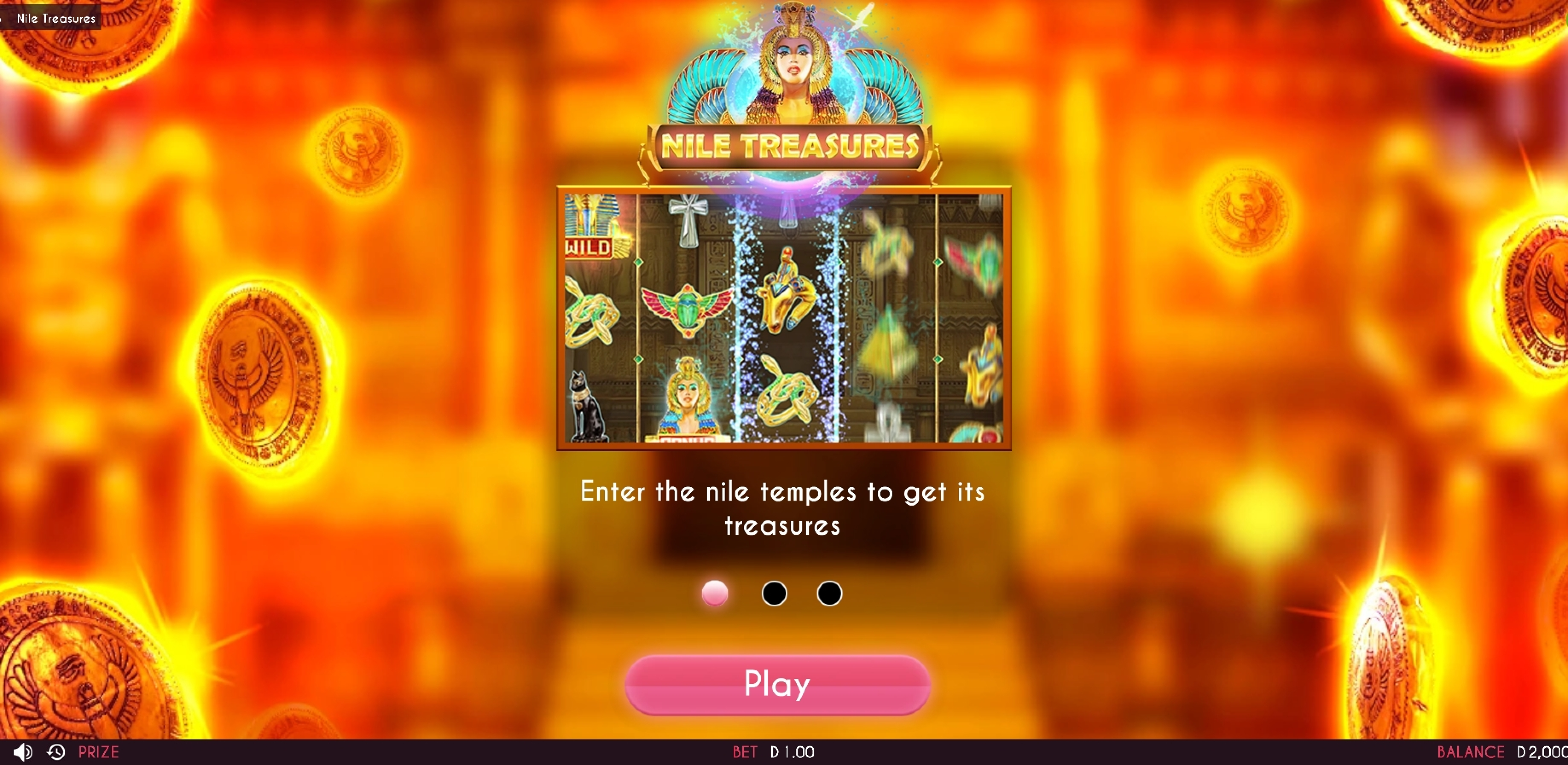 Play Nile Treasures Free Casino Slot Game by Triple Cherry