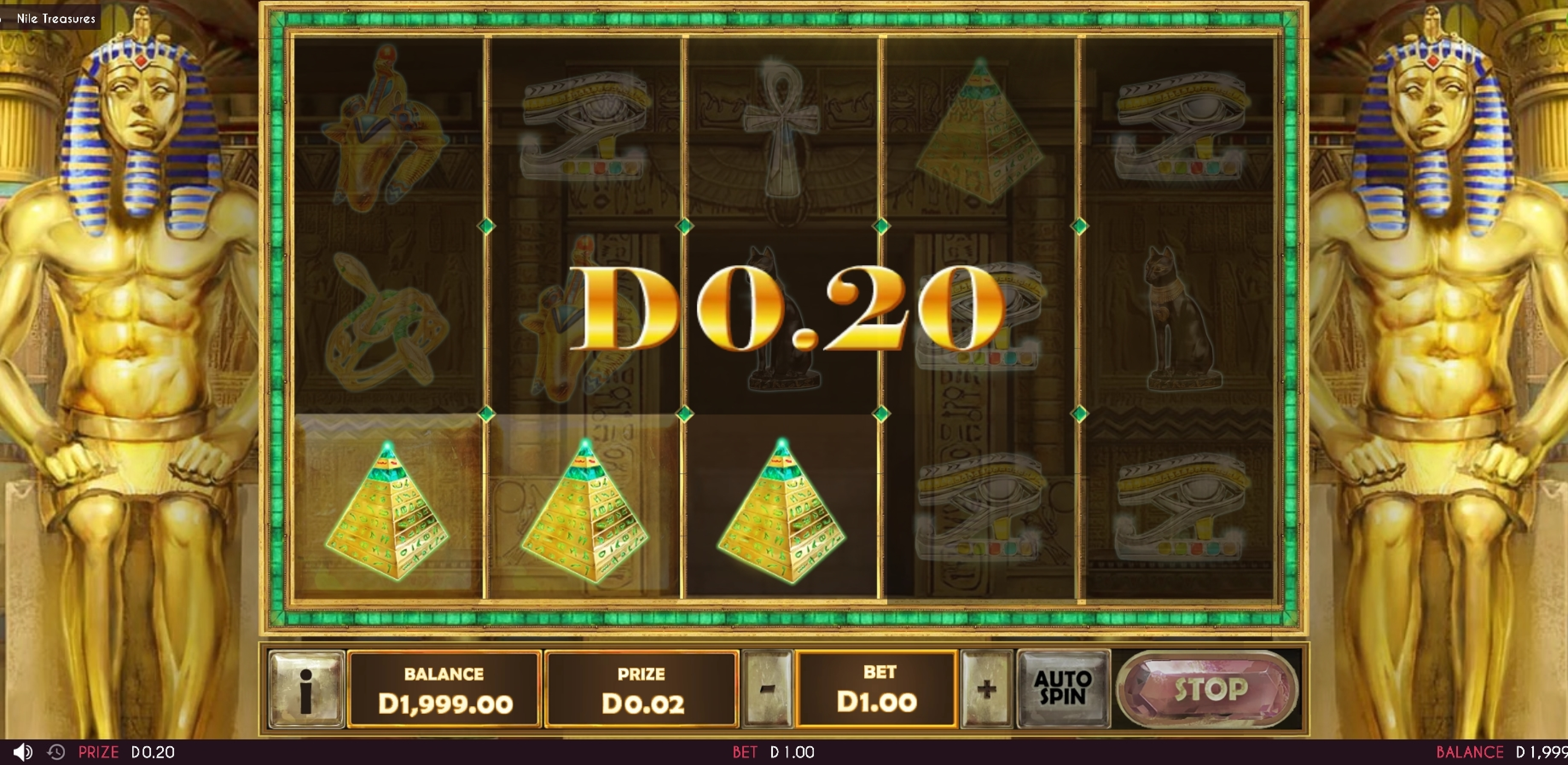 Win Money in Nile Treasures Free Slot Game by Triple Cherry