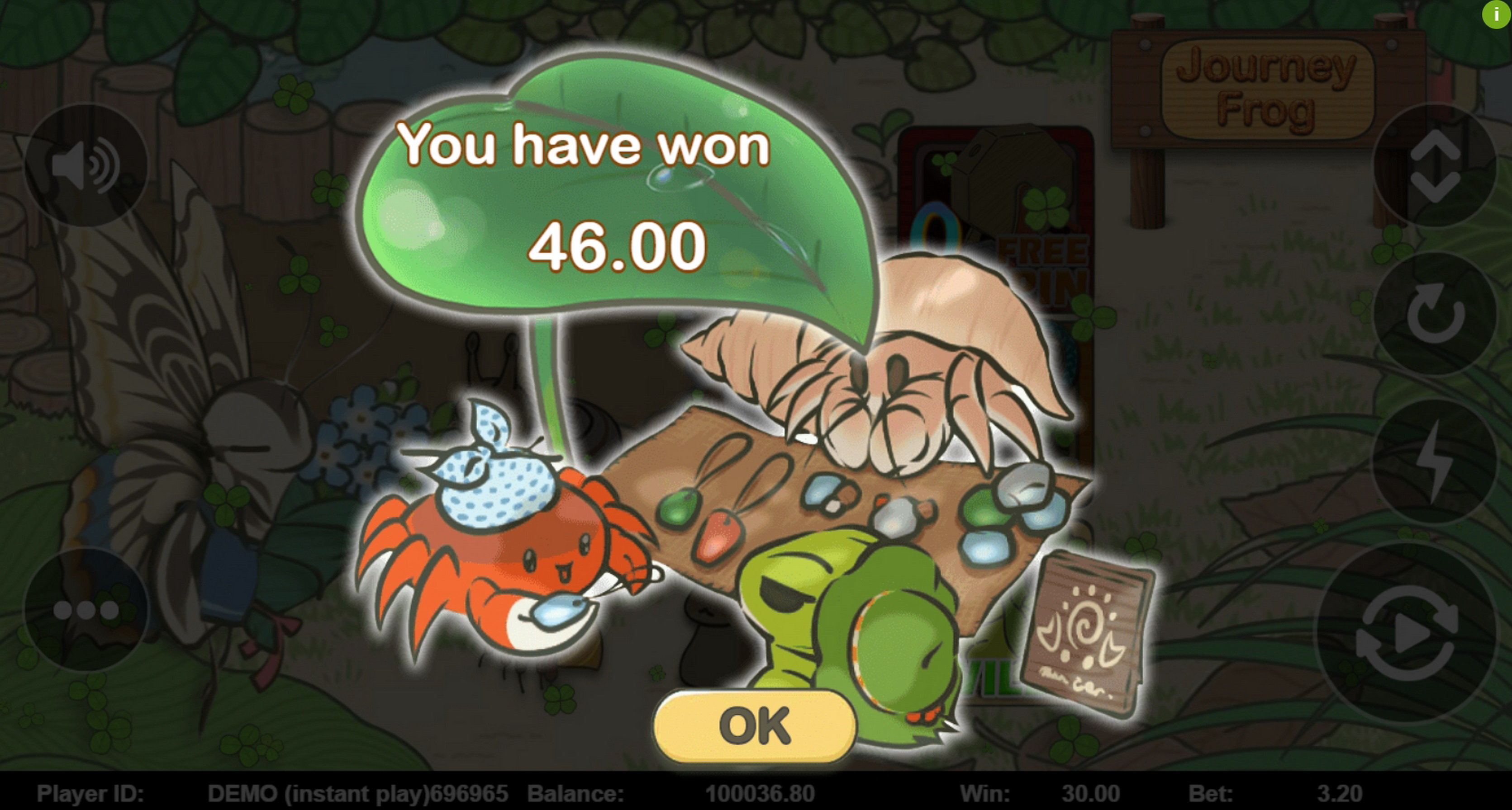 Win Money in Journey Frog Free Slot Game by Triple Profits Games