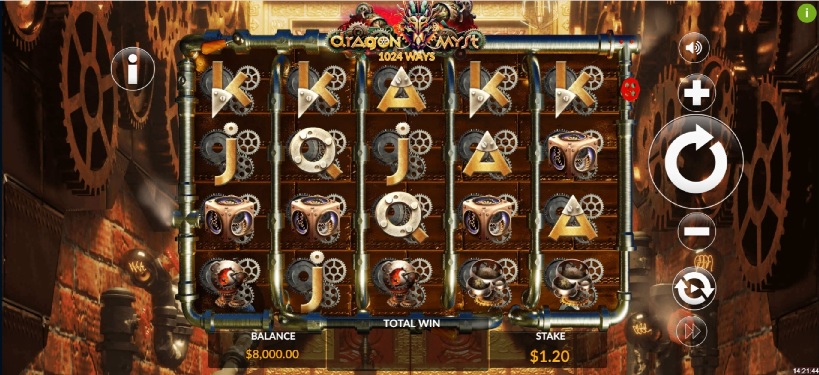 Reels in Dragon Myst Slot Game by Maverick