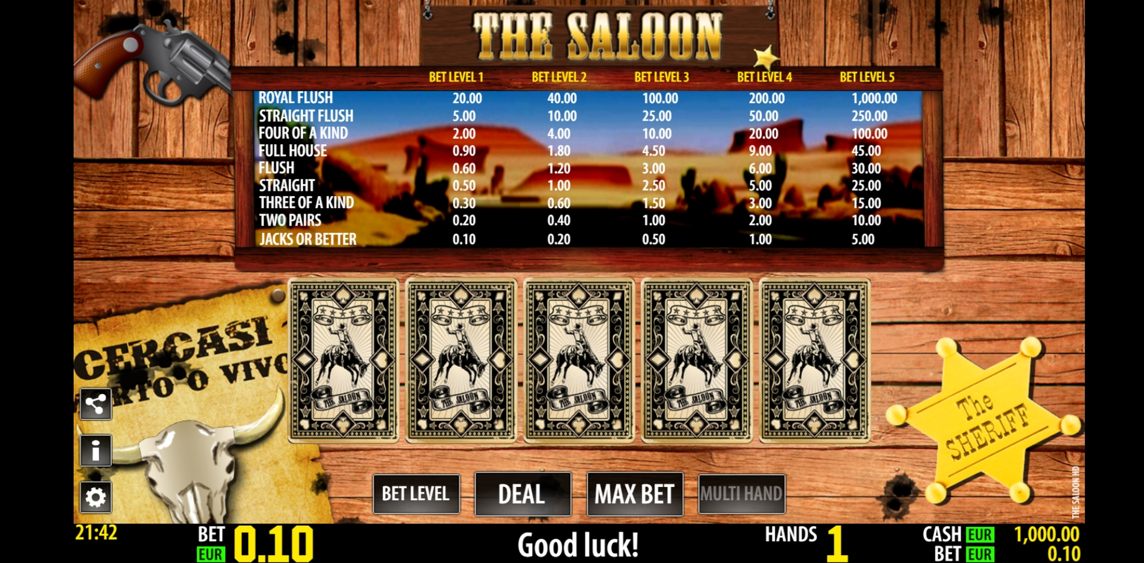 Reels in The Saloon HD Slot Game by World Match