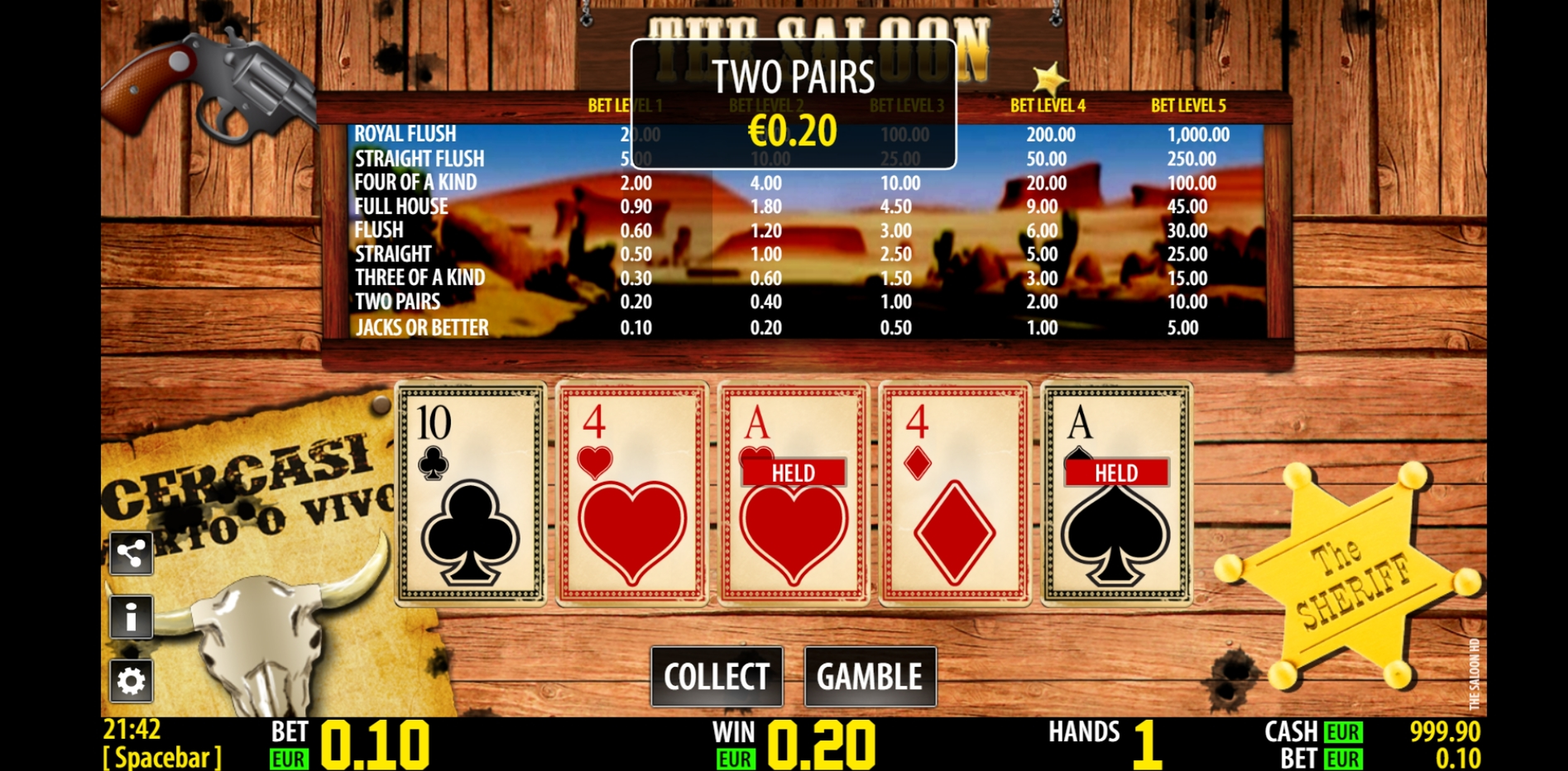 Win Money in The Saloon HD Free Slot Game by World Match