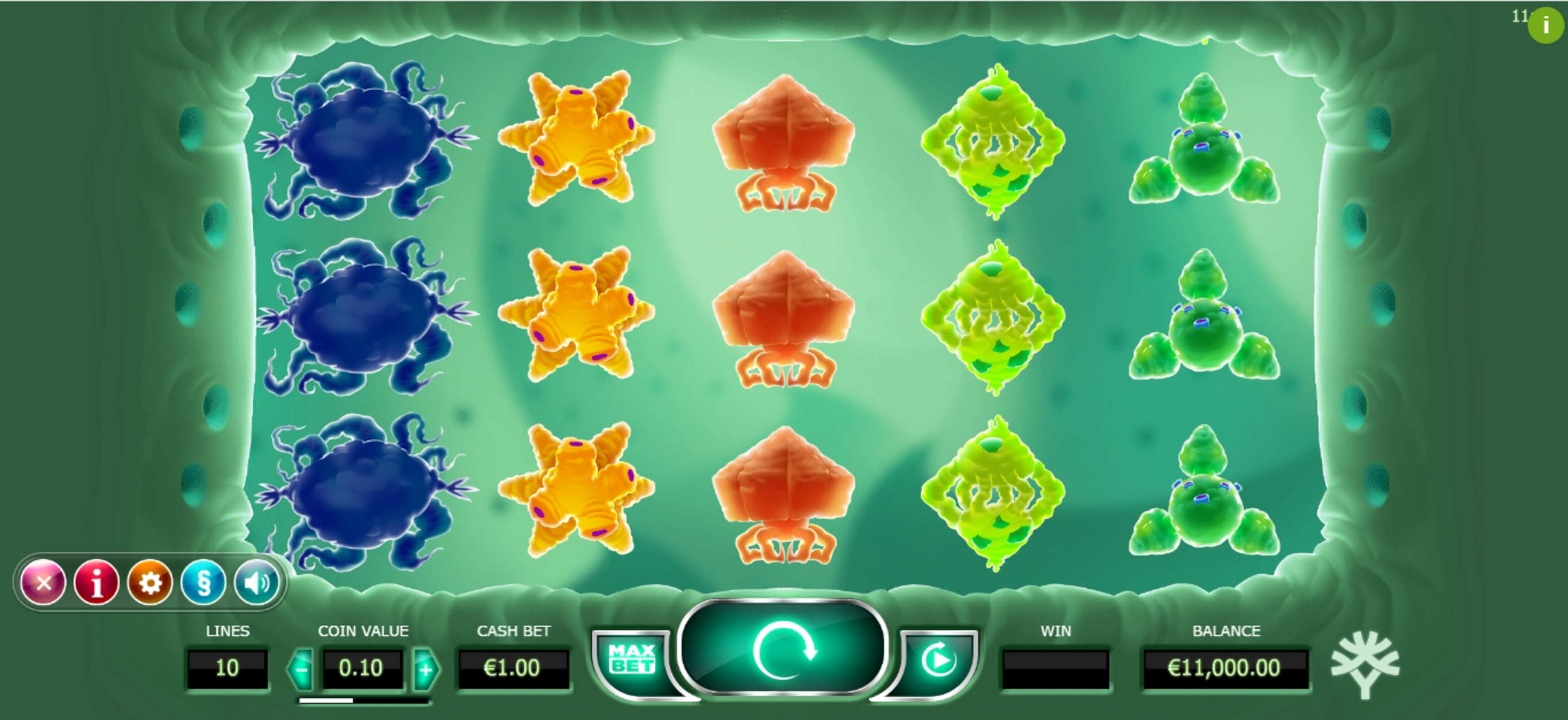 Reels in Cyrus the Virus Slot Game by Yggdrasil